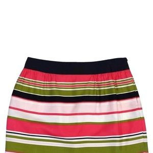 Milly Silk Striped Mini Skirt Size 6 with Pockets!
